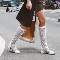 Shoespie Trendy Plain Pointed Toe Back Zip Lace-Up Boots