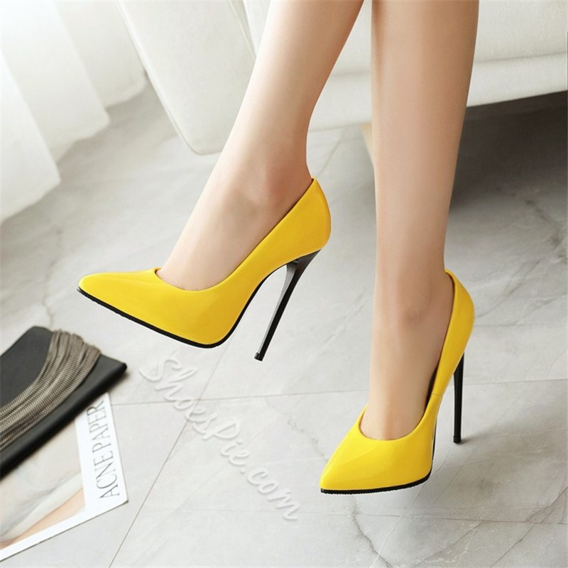 Shoespie Trendy Slip-On Pointed Toe Plain Thin Shoes