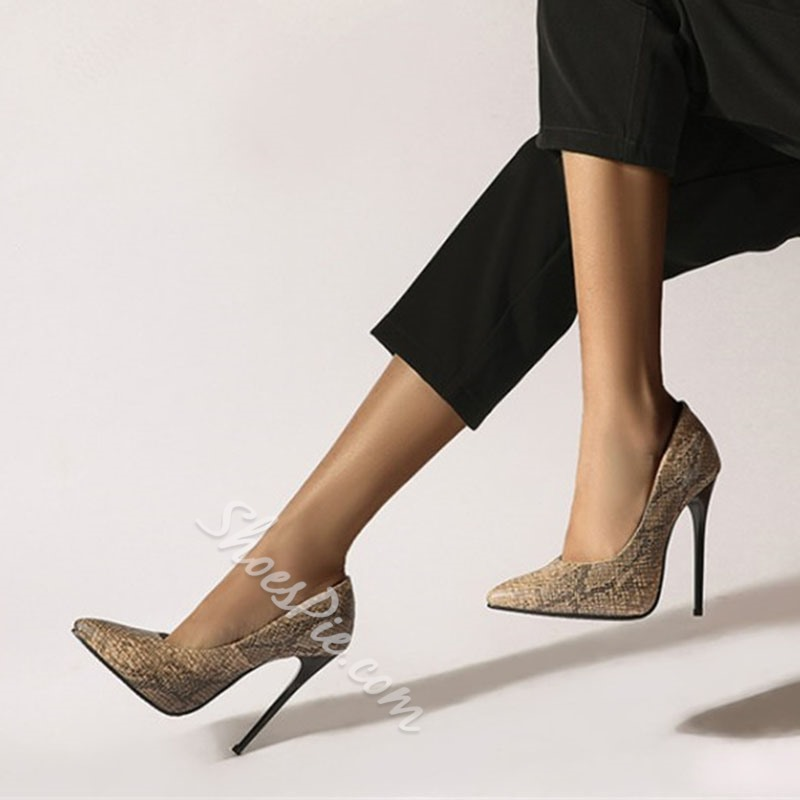 Shoespie Stylish Slip-On Pointed Toe Serpentine Casual Thin Shoes