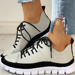 Shoespie Sexy Thread Low-Cut Upper Round Toe Casual Sneakers