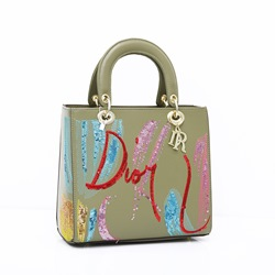 Shoespie Sequins PU Letter Rectangle Tote Bags