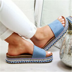 Shoespie Stylish Slip-On Flat With Rhinestone Compound Slippers