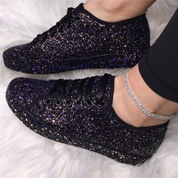 Shoespie Trendy Lace-Up Round Toe Cross Strap Casual Sneakers