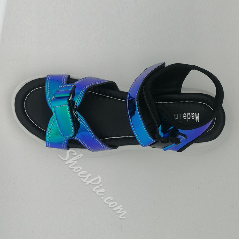 Shoespie Sexy Flat With Open Toe Velcro Thread Sandals