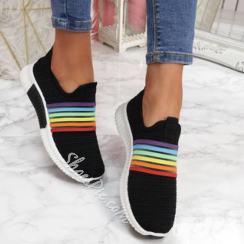 Shoespie Stylish Slip-On Round Toe Outdoor Sneakers