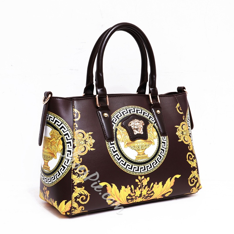 Shoespie Print Floral PU Rectangle Tote Bags