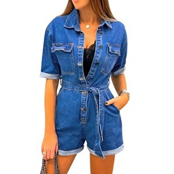 Casual Shorts Plain Wide Legs Women's Jumpsuit