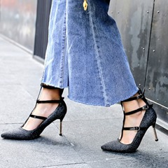 Shoespie Trendy Pointed Toe Spool Heel Buckle Casual Thin Shoes