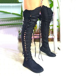 Shoespie Trendy Round Toe Side Zipper Plain Low Heel Casual Boots