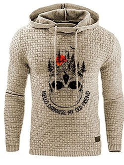 Print Pullover Letter Hooded Pullover Hoodies