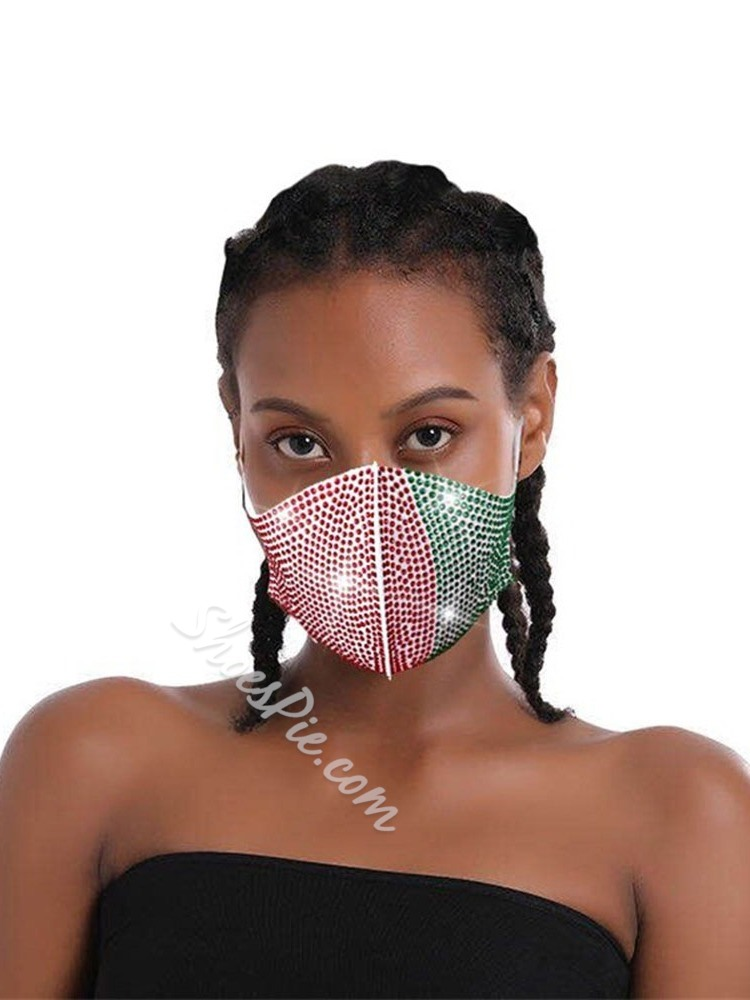 Safety Colorful Sequins White Masks