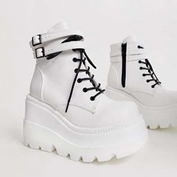 Shoespie Stylish Zipper High-Cut Upper Round Toe Casual Sneakers
