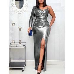 Long Sleeve Split Floor-Length Party/Cocktail Women's Dress