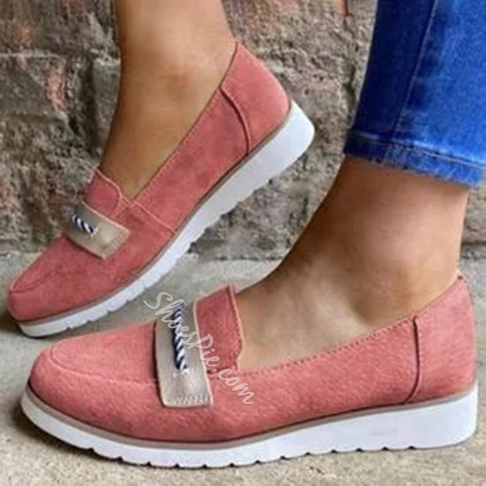 Shoespie Trendy Thread Flat With Round Toe Plain Thin Shoes