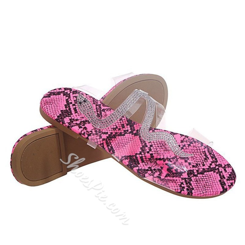 Shoespie Sexy Slip-On Flat With Flip Flop Rubber Slippers