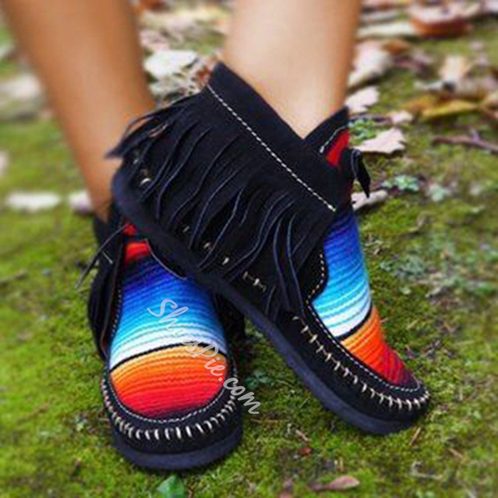 Shoespie Sexy Lace-Up Fringe Flat With Casual Thin Shoes