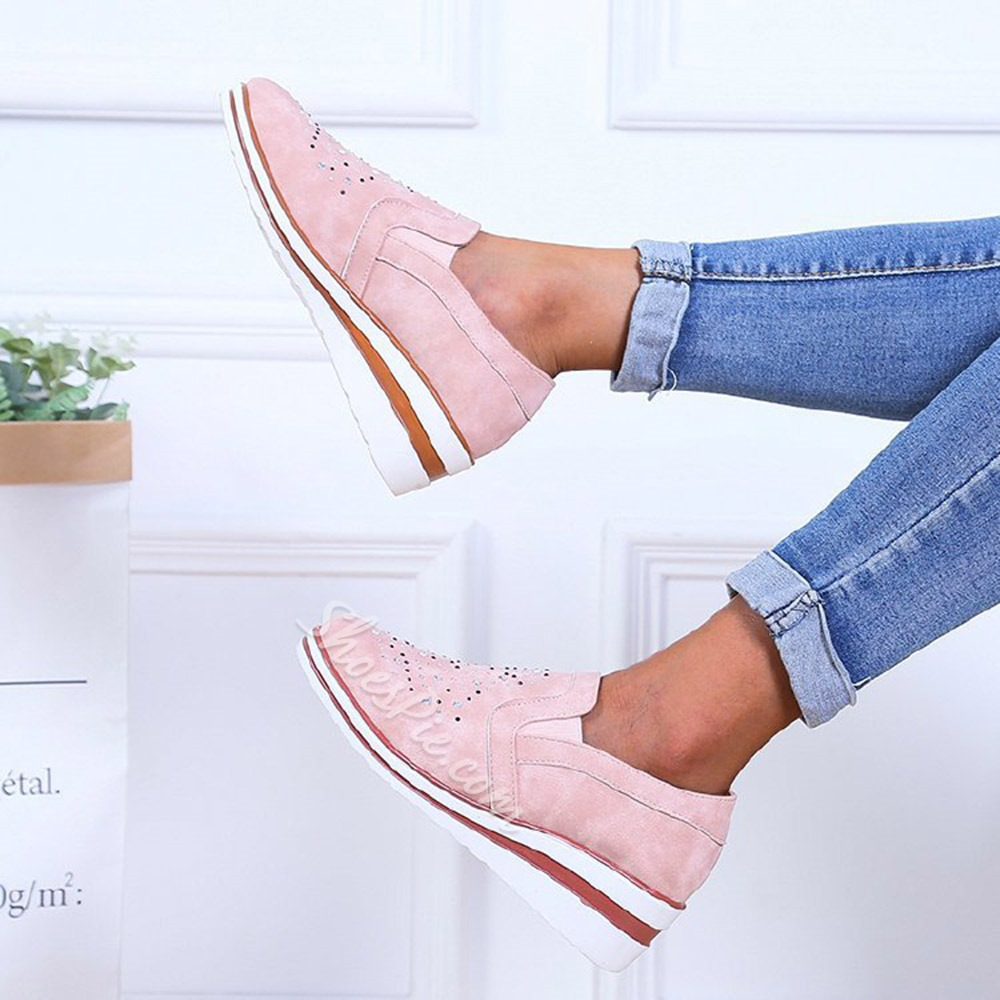 Shoespie Sexy Slip-On Rhinestone Round Toe Low Heel (1-3cm) Thin Shoes