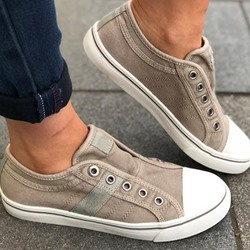 Shoespie Sexy Closed Toe Thread Slip-On Flat With Sneakers