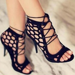 Shoespie Sexy Open Toe Heel Covering Stiletto Heel Cross Strap Sandals