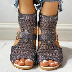 Shoespie Stylish Chunky Heel Open Toe Heel Covering Casual Sandals