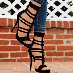 Shoespie Sexy Open Toe Stiletto Heel Heel Covering High-Cut Upper Sandals