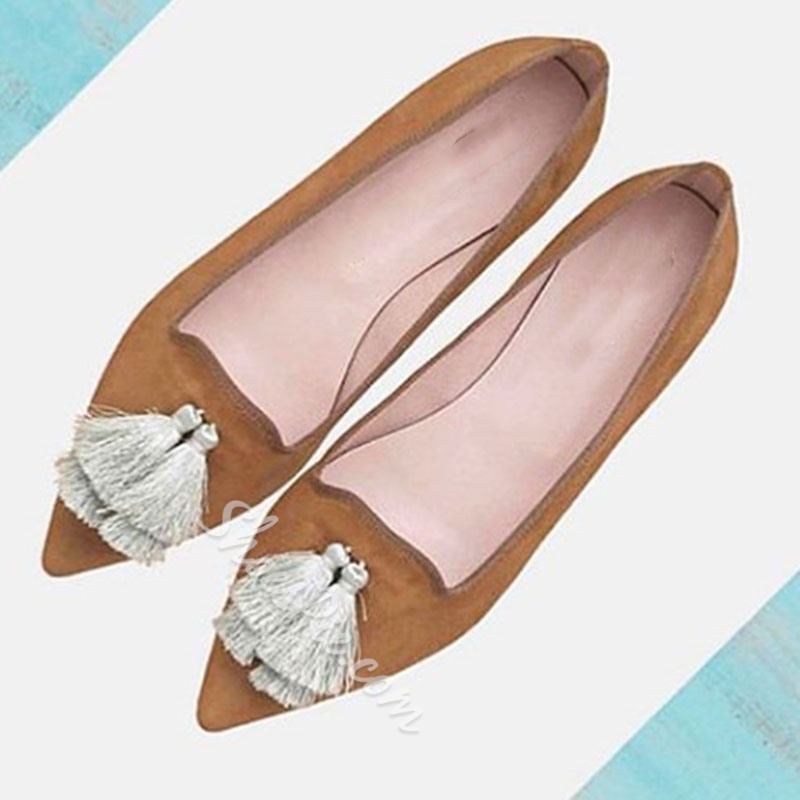 Shoespie Trendy Slip-On Fringe Flat With Flat Heel(≤1cm) Thin Shoes