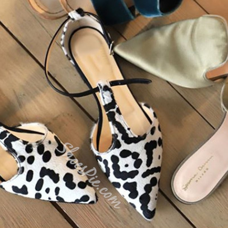 Shoespie Sexy Block Heel T-Shaped Buckle Closed Toe Color Block Sandals