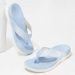Shoespie Stylish Thong Print Flat With Summer Slippers