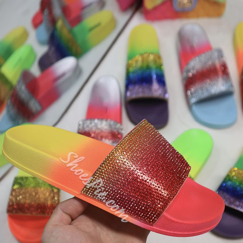 Shoespie Sexy Flip Flop Slip-On Candy Color Casual Slippers