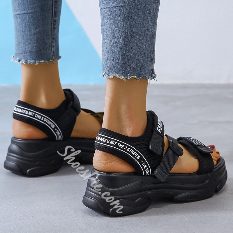 Shoespie Stylish Velcro Flat With Round Toe Low-Cut Upper Sandals
