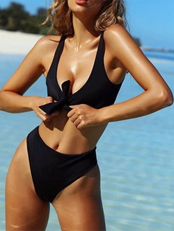 Tankini Set Sexy Plain Women's Swimwear