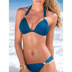 Sexy Bikini Set Plain Women's Swimwear