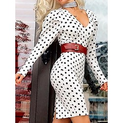 Print Long Sleeve Above Knee Fall Women's Dress