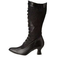 Shoespie Trendy Lace-Up Front Plain Pointed Toe Lace Boots