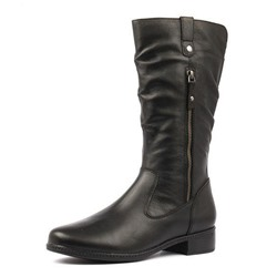 Shoespie Sexy Plain Side Zipper Round Toe Purfle Boots