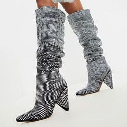 Shoespie Sexy Pointed Toe Slip-On Casual Boots