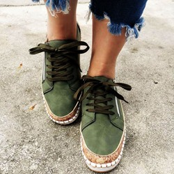 Shoespie Sexy Lace-Up Round Toe Thread Flat With Sneakers