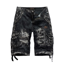 Straight Letter Print Mid Waist Casual Casual Pants