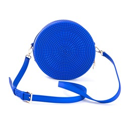 Shoespie Plain Knitted PVC Circular Crossbody Bags