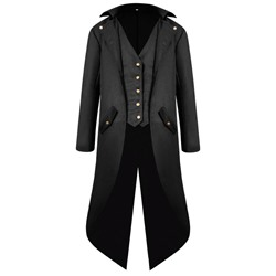 Plain Long Button Fall Slim Coat
