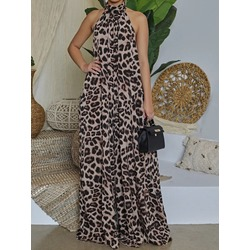 Backless Full Length Fashion Loose Women's Jumpsuit