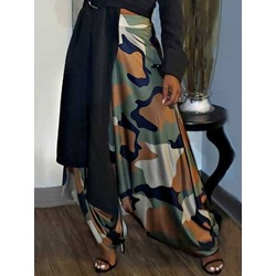 Loose Camouflage Full Length Women's Casual Pants