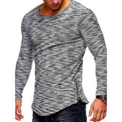Round Neck Casual Stripe Pullover Slim T-shirt
