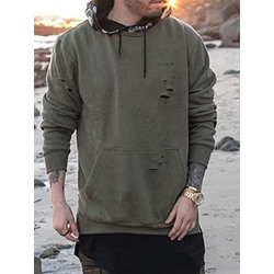 Hole Pullover Hooded Pullover Hoodies