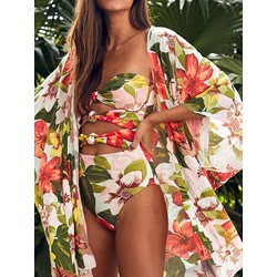 Hawaii Sexy Floral Print Women's Swimwear