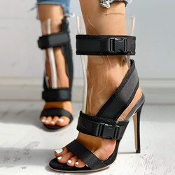 Shoespie Sexy Stiletto Heel Pointed Toe Buckle Western Sandals