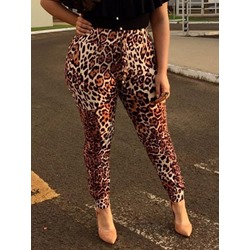 Skinny Leopard Ankle Length Women's Casual Pants