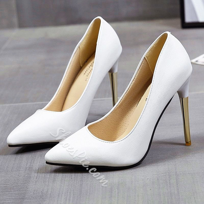 Shoespie Sexy Stiletto Heel Pointed Toe Thread England Thin Shoes