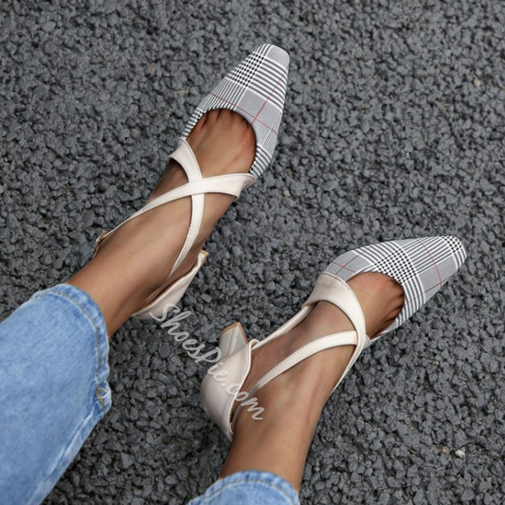 Shoespie Sexy Pointed Toe Buckle Buckle Casual Thin Shoes