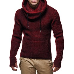 Mid-Length Plain Winter European Sweater